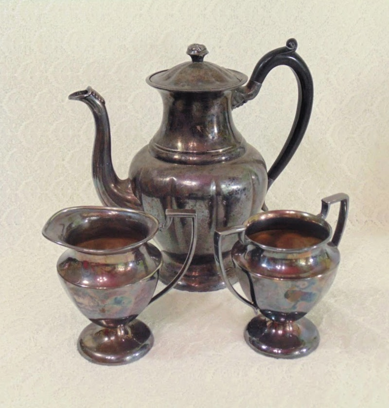 Vintage Silver Plate Baronet Teapot and cream and sugar set