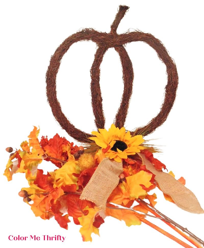 fall grapevine pumpkin wreath supplies