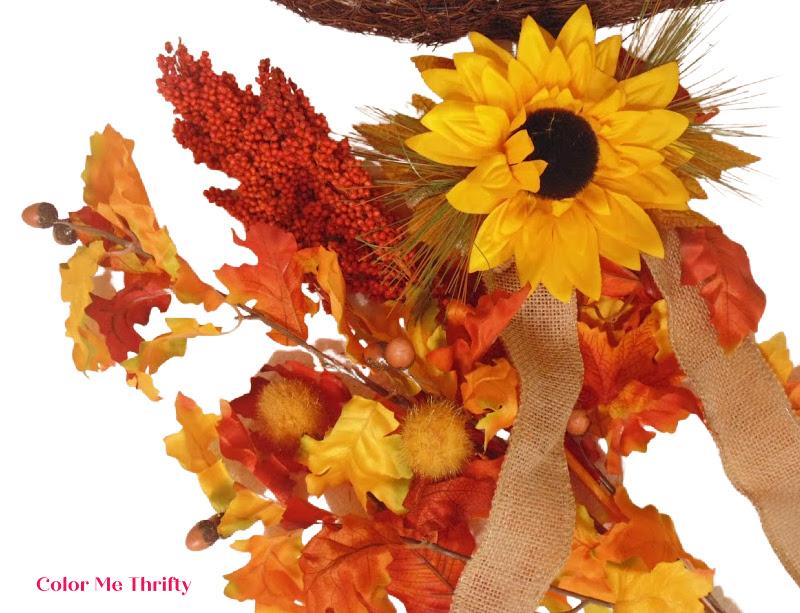 colorful faux fall foliage