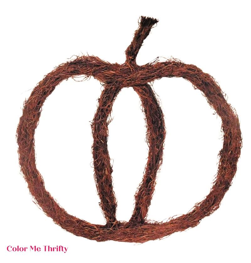 pumpkin-shaped grapevine wreath form