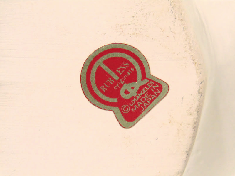 Vintage Rubens label on bottom of Dutch Girl planter